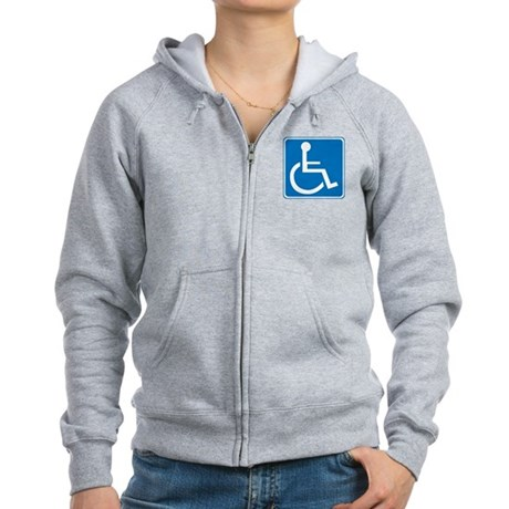 Handicapped Sign Women's Zip Hoodie