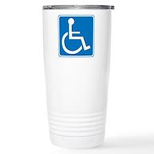 Handicapped Sign Travel Mug