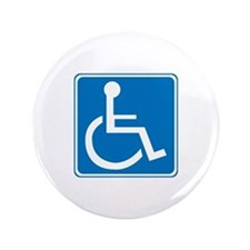 """Handicapped Sign 3.5"""" Button"""