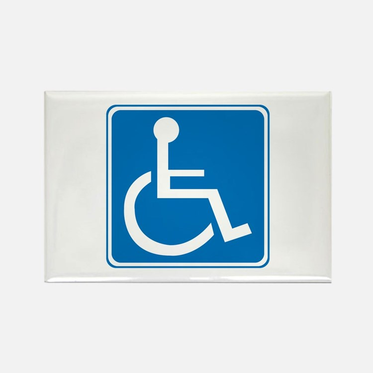 Handicapped Sign Rectangle Magnet
