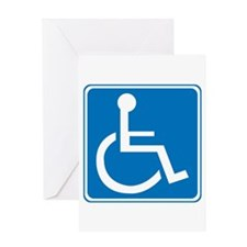 Handicapped Sign Greeting Card