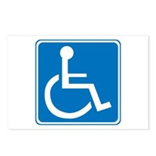 Handicapped Sign Postcards (Package of 8)
