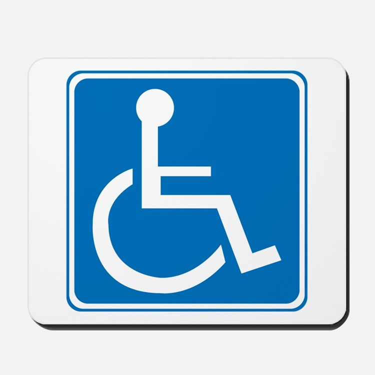 Handicapped Sign Mousepad