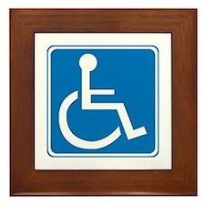 Handicapped Sign Framed Tile