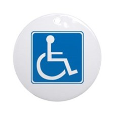 Handicapped Sign Ornament (Round)