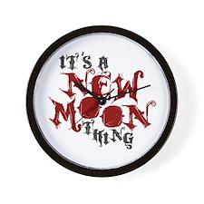 A New Moon Thing Wall Clock