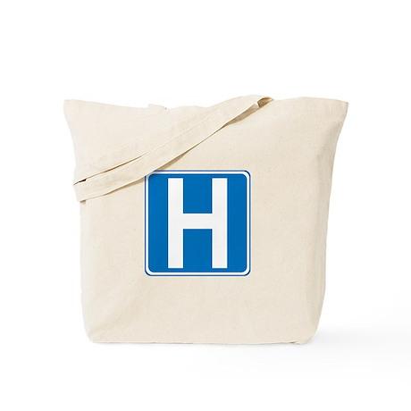 Hospital Sign Tote Bag