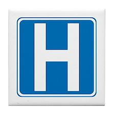 Hospital Sign Tile Coaster