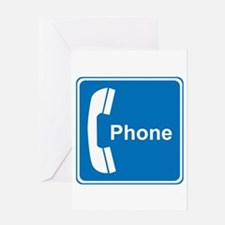 Phone Sign Greeting Card
