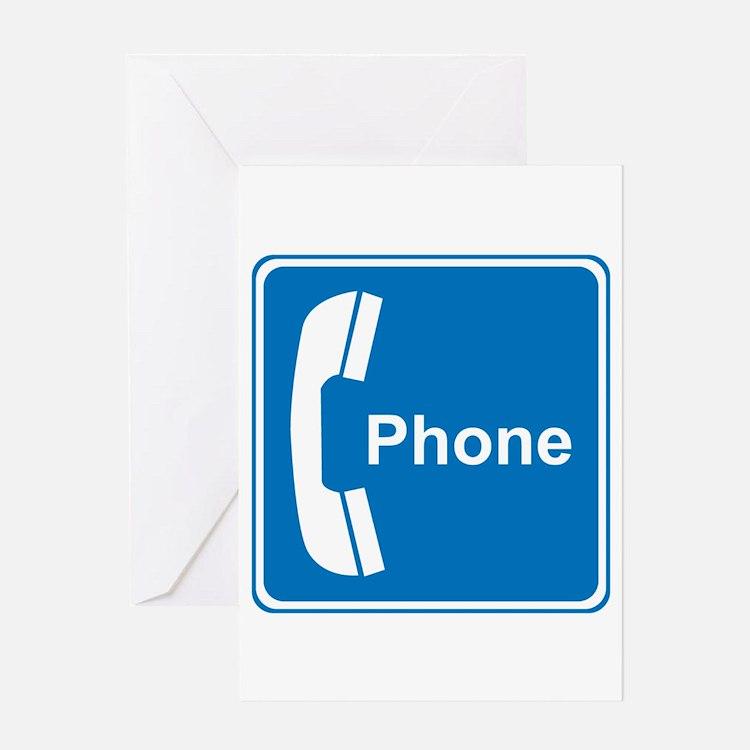 Phone Sign Greeting Card