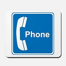 Phone Sign Mousepad