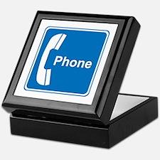 Phone Sign Keepsake Box