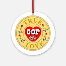 GOP True Love Golden Seal Ornament (Round)