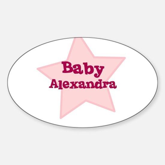 Baby Alexandra Oval Decal