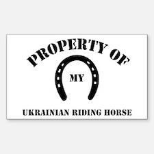 My Ukrainian Riding Horse Rectangle Decal