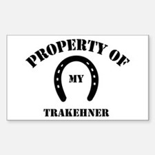 My Trakehner Rectangle Decal