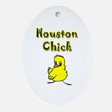Houston Chick Oval Ornament