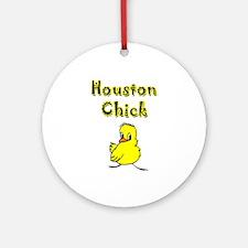 Houston Chick Ornament (Round)