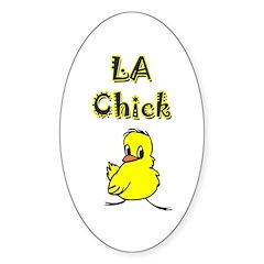 LA Chick Oval Sticker (50 pk)