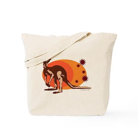 Kangaroo (Orange) Tote Bag