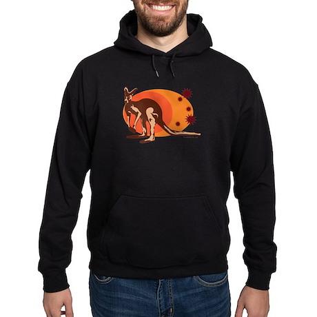 Kangaroo (Orange) Hoodie (dark)