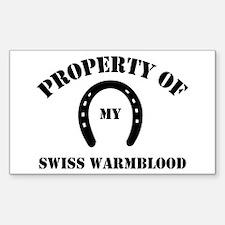 My Swiss Warmblood Rectangle Decal