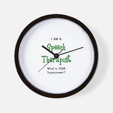 speech therapist Wall Clock