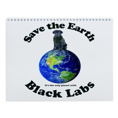 Black Lab Wall Calendar