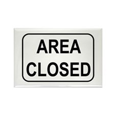 Area Closed Sign Rectangle Magnet