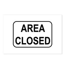 Area Closed Sign Postcards (Package of 8)