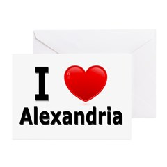 I Love Alexandria Greeting Cards (Pk of 20)