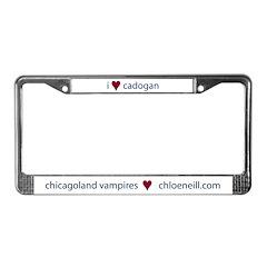 """I heart Cadogan"" license plate frame"