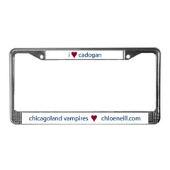 """I heart Cadogan"" license plate frame"