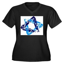 Cute Israel pride Women's Plus Size V-Neck Dark T-Shirt