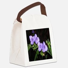 Four Spiderworts Flowers Canvas Lunch Bag