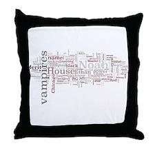 Chicagoland Vampires Word Art Throw Pillow