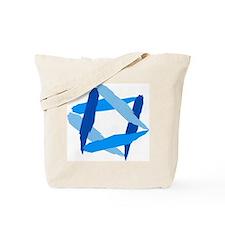 Funny Star of david Tote Bag