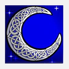 The Celtic Moon Tile Coaster