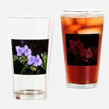 Four Spiderworts Flowers Drinking Glass