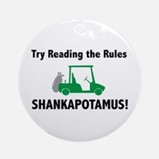 Try Reading the Rules Shankapotamus - Golf Tag