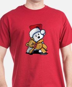 Christmas Teddy Bear Westie T-Shirt