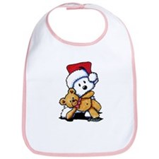Christmas Teddy Bear Westie Bib