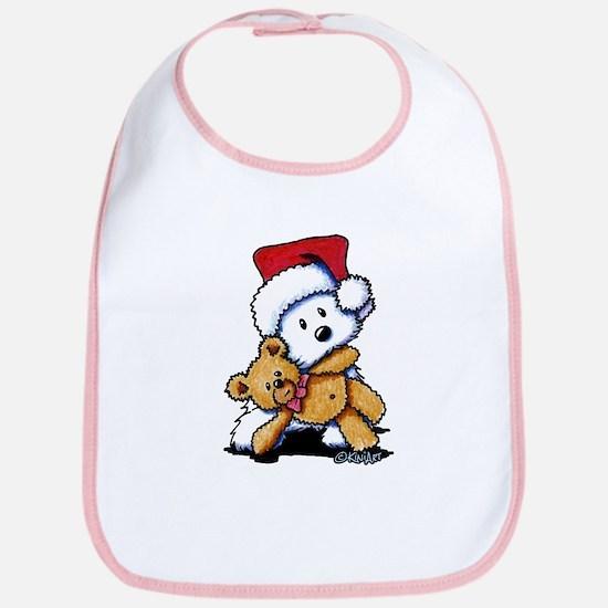 Christmas Teddy Bear Westie Bib