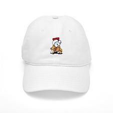 Christmas Teddy Bear Westie Baseball Cap