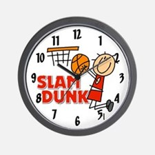 Slam Dunk Basketball Wall Clock
