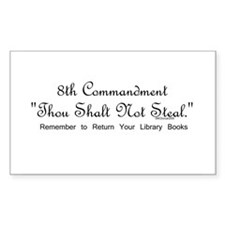 8th Commandment: Thou Shalt N Sticker (Rectangular