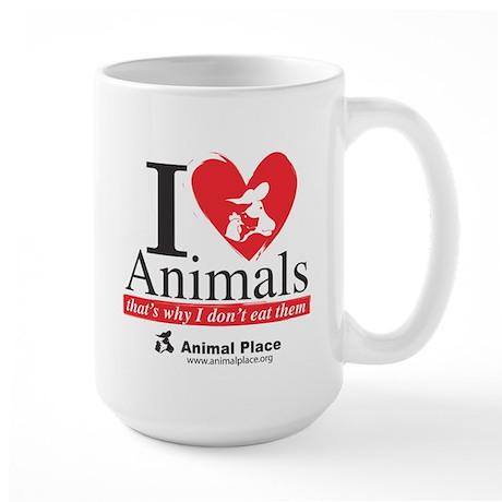 I Love Animals Large Mug