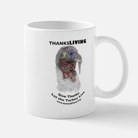 ThanksLiving Tom Turkey Mug