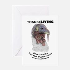 ThanksLiving Tom Turkey Greeting Card