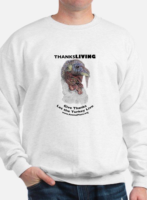 ThanksLiving Tom Turkey Sweatshirt